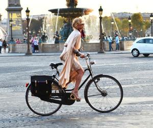 bike, girl, and city image