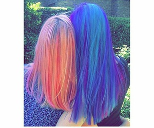 blue, colorfull, and girls image