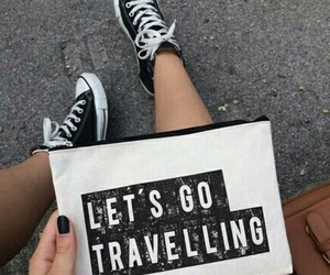 travel, black, and quote image