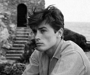Alain Delon, boy, and vintage image