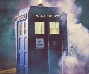 tardis, doctor who, and blue image