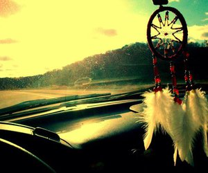 dream catcher and car image