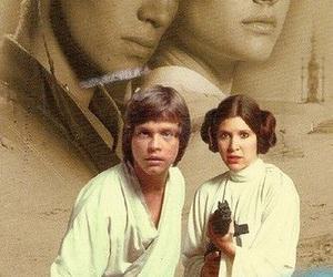 Anakin Skywalker, luke skywalker, and carrie fisher image