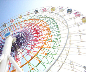 ferris wheel, colorful, and fun image