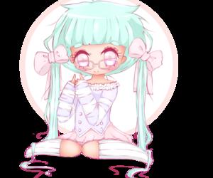 anime girl, chibi, and drawing image