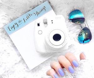 camera, polaroid, and white image