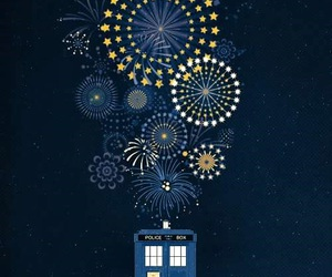 doctor who, tardis, and happy new year image