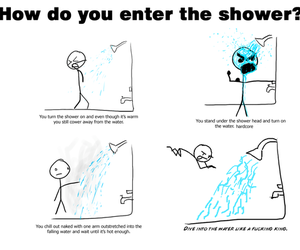 funny and shower image