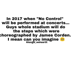 concert, james corden, and directioner image