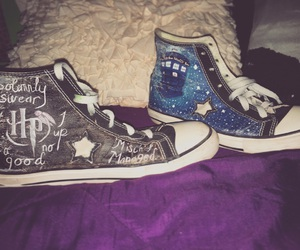 converse, doctor who, and harry potter image