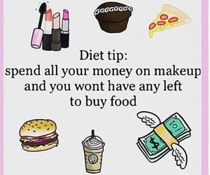 diet, food, and makeup image