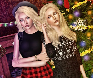 art, best friends, and christmas image