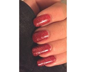glitter, gold, and nail polish image