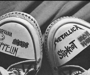metallica, nirvana, and rock image