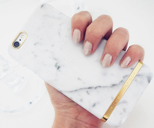 iphone, nails, and marble image