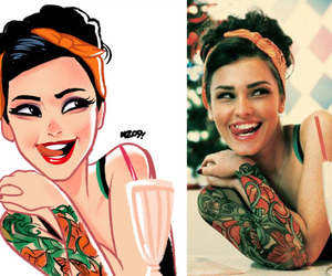 art, tattoo, and cool image