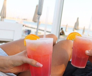 drink, summer, and nails image
