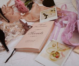 book, pink, and secret image