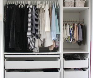 bedroom, clothes, and decor image