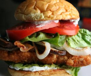 burger, yummy, and food image