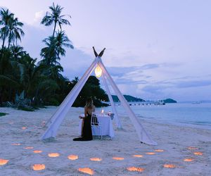 light, beach, and romantic image