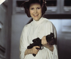 carrie fisher, smile, and star wars image