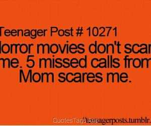 mom, horror, and scare image