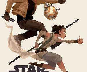 bb8, star wars, and the force awakens image
