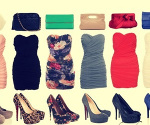 dress, shoes, and bag image