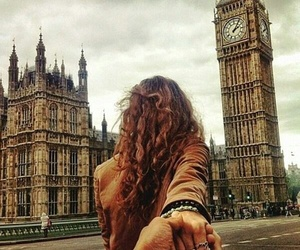 london, couple, and Big Ben image