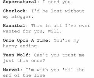 doctor who, teen wolf, and hannibal image