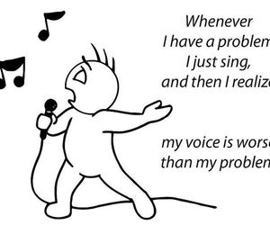 sing, problem, and black and white image