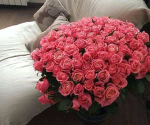 pink flowers and cute image