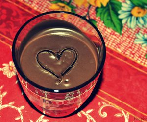 chocolate, heart, and nutella image