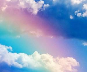 rainbow, wallpaper, and sky image