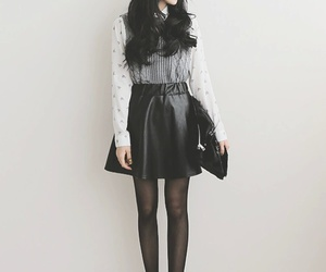 fashion, ulzzang, and black image