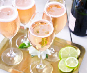 drink, champagne, and delicious image