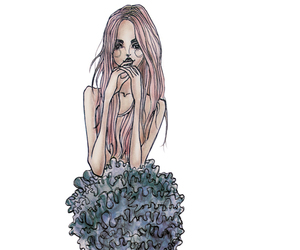 fashion illustration, girl, and illustration image