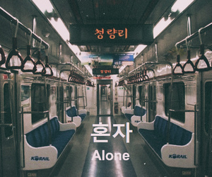 alone, south korea, and metro image