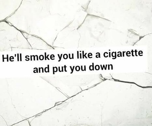 broken, cigarette, and girl image