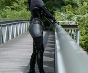 girls, sexy, and latex image