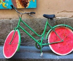 watermelon, bike, and bicycle image
