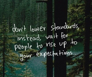 quote, expectations, and standards image