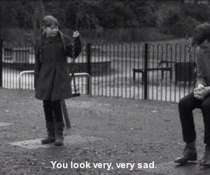 sad, doctor who, and black and white image