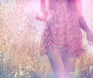 girl, dress, and nature image