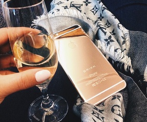 champagne, iphone, and luxury image