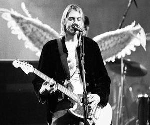 nirvana, kurt cobain, and angel image