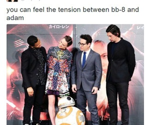 star wars, bb-8, and adam driver image