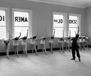ballet, black and white, and girl image