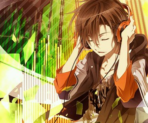 anime, music, and anime boy image